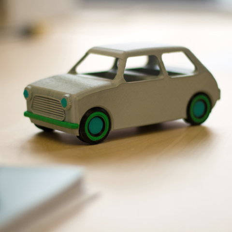 Download free STL file Multi-color Car Model • 3D print template, MosaicManufacturing