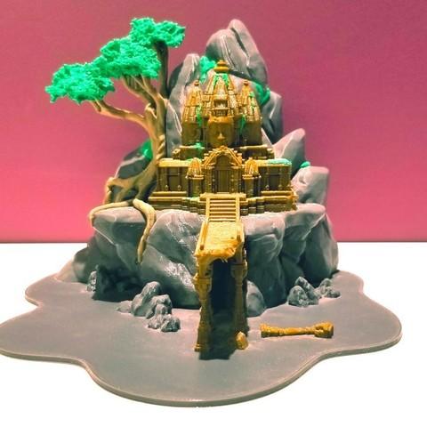 Free 3D printer designs Multi-Color Temple Ruins, MosaicManufacturing