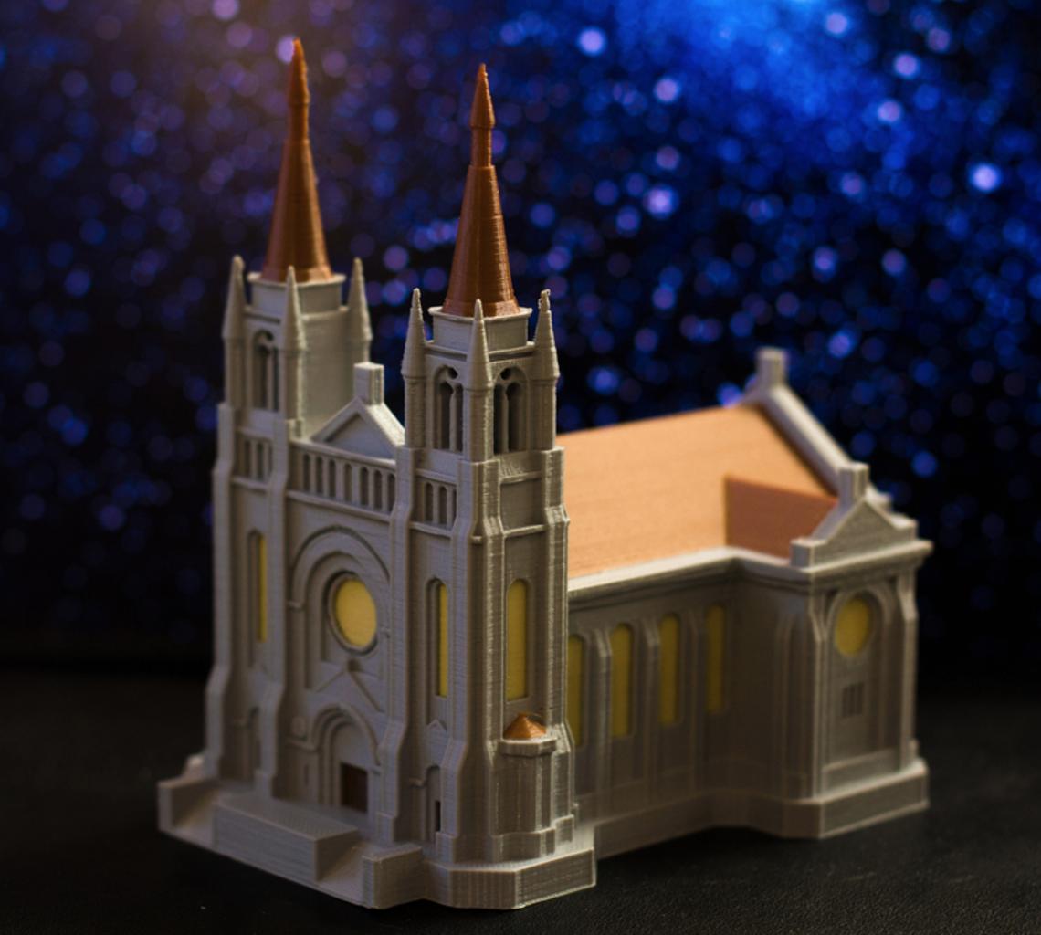 Capture d'écran 2017-04-14 à 09.37.25.png Download free STL file Multi-color Cathedral • 3D printing design, MosaicManufacturing