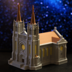 Free STL Multi-color Cathedral, MosaicManufacturing
