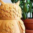 Download free 3D printing files Multi-Color Owl Jar, MosaicManufacturing