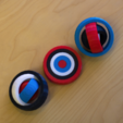 Download free 3D printing models Multi-color Rotating Rings Toy, MosaicManufacturing