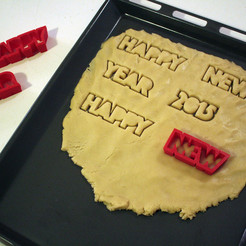 Free 3d printer designs Season's Cookie Cutters, Costas
