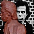 STL Nick Cave bust Boatmans Call cover, JanM15