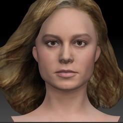 Download 3D print files Brie Larson as Captain Marvel Carol Danvers bust, JanM15