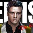 STL Elvis Presley Le buste du Roi, JanM15