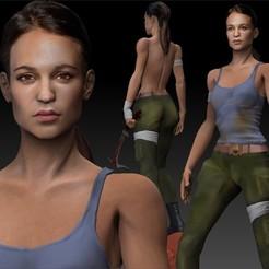 Descargar archivos STL Tomb Raider Lara Croft Alicia Vikander, JanM15