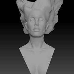 Free 3D print files Angel Lady with Wing Hair, JanM15