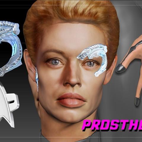 Télécharger objet 3D Seven of Nine Stark Trek Borg Implants, JanM15