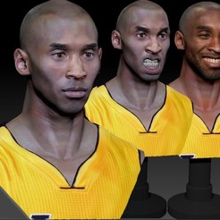 Cover.jpg Download STL file Kobe Bryant 3 Textured 3D Print Busts • 3D printable object, JanM15