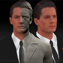 3D printer models Dale Cooper from Twin Peaks Kyle Maclachlan bust, JanM15