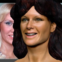 Download free STL file Anni-Frid of Abba bust, JanM15