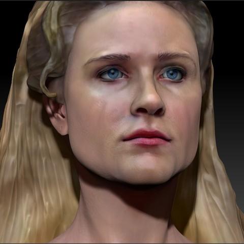 Descargar diseños 3D Dolores Abernathy de Westworld Evan Rachel Busto de madera, JanM15
