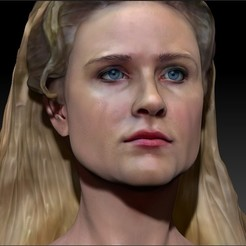 3D print model Dolores Abernathy from Westworld Evan Rachel Wood bust, JanM15