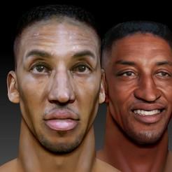 Download 3D model Scottie Pippen 2 busts, JanM15