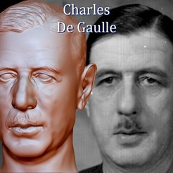 Cover.jpg Download OBJ file Charles De Gaulle Bust • 3D printing design, JanM15