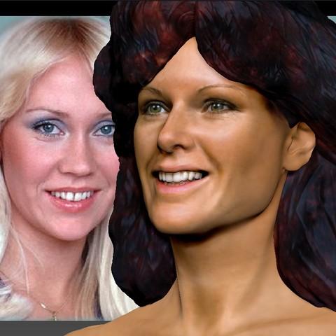 AnniFrid_0004_Layer 16.jpg Télécharger fichier STL gratuit Anni-Frid du buste d'Abba • Design pour imprimante 3D, JanM15