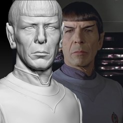 STL files Mr. Spock from Star Trek Leonard Nimoy bust, JanM15