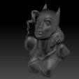 Descargar modelos 3D Busto Gatúbela 2 versiones, JanM15