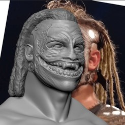 2.jpg Download STL file WWE Bray Wyatt Fiend 3d print bust • 3D print template, JanM15