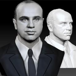 Descargar STL Busto modelo 3d Al Capone, JanM15
