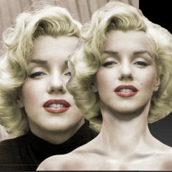 2016-09-02_17h33_25.png Download STL file Marilyn Monroe bust • 3D printer design, JanM15
