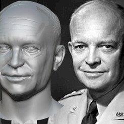 Cover.jpg Download OBJ file Dwight Eisenhower bust • Template to 3D print, JanM15