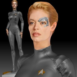 Imprimir en 3D Star Trek Siete de Nueve Jeri Ryan, JanM15