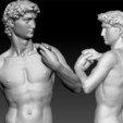 Impresiones 3D Estatua de David de Miguel Ángel Clásico, JanM15