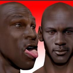 Descargar archivos 3D Michael Jordan jugador de baloncesto 2 versiones busto, JanM15