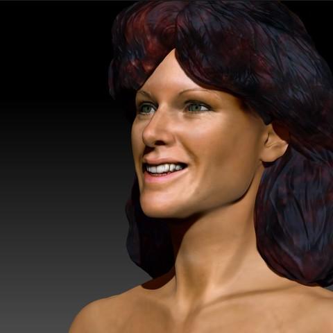 AnniFrid_0005_Layer 15.jpg Télécharger fichier STL gratuit Anni-Frid du buste d'Abba • Design pour imprimante 3D, JanM15