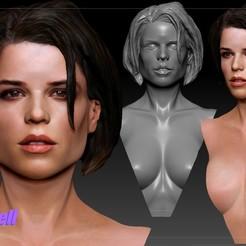 Download 3D printer model Neve Campbell 3d print bust, JanM15