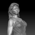 3D printing model Wonder Woman Gal Gadot nude with separate clothes, JanM15