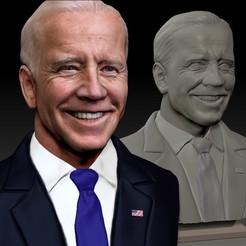 JB_0003_Cover.jpg Télécharger fichier STL Joe Biden Président du Parti démocrate texturé • Modèle pour imprimante 3D, JanM15