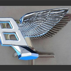 Download 3D printer model Bentley hood ornament mascot, JanM15