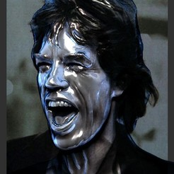 Download 3D print files Mick Jagger bust, JanM15