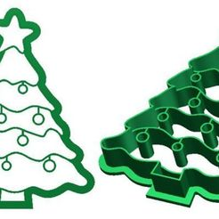 CC XmasTree.jpg Download STL file Christmas Tree Cookie Cutter • 3D printer template, Rhum51