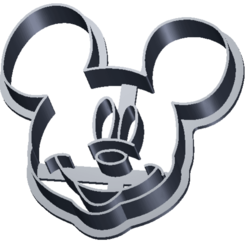 CC Mickey Mouse.png Download STL file Cookie cutter Mickey Mouse • 3D printing template, Rhum51