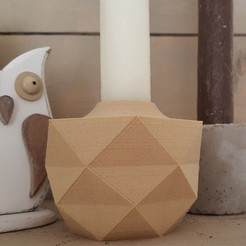 stl files Low Poly Candle Holder, DonMaro