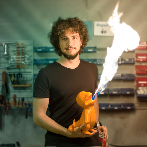Download 3D printer designs Fire Breathing Charmender, suatbatu