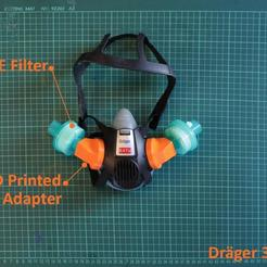 Download free STL files Draeger HME/DAR Filter Adapter, suatbatu