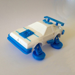 Free 3D printer files 3DRacers - DeLorean, 3DRacers