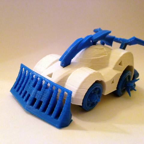 Download free 3D printer files 3DRacers - Armageddon car, 3DRacers
