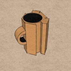 3d model Coffee cup, leon