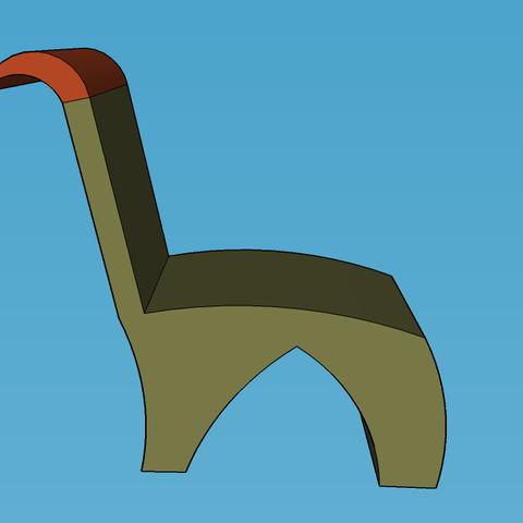 3D print model CHAISE, leon
