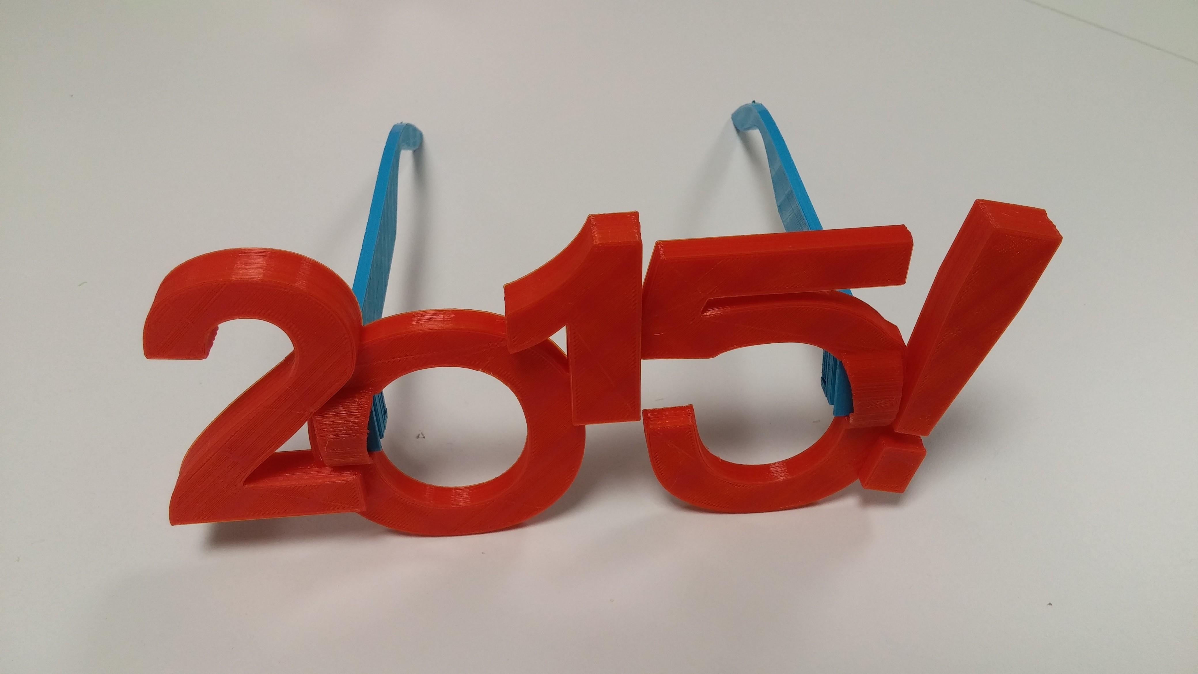 rouge_seule.jpg Download free STL file Lunettes 2015 • Model to 3D print, Makershop