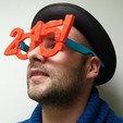 Free 3D printer files Lunettes 2015, Makershop