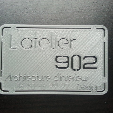 Free Carte de visite L'atelier 902, Architecture et Design 3D printer file, latelier902