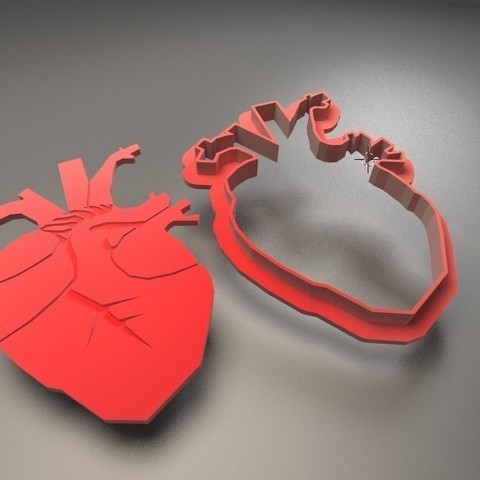 large_jul2h.jpg Download STL file Cookiecutter Heart • 3D printing object, Lina_Thomas