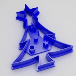 Download 3D printer templates Cookie Cutter Christmas Tree, Kukens